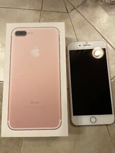 Apple iPhone 7 Plus - 128GB - Rose Gold (Sprint) Unlocked With Box & Accessory