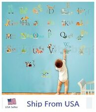 26 Animals Alphabet Removable Educational Kids Nursery Decal Wall Stickers USA