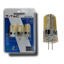 Lampadina LED G4 3W BULB - Bianco NATURALE 4500K - Blister 3 pezzi  V-TAC EUROPA