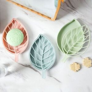 Leaf Shape Soap Storage Box Bathroom Dish Storage Plate Soap Drain Tray Holder