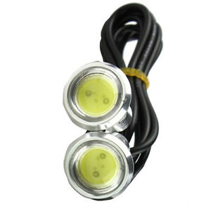 2 X 12V 9W LED DRL Eagle Eye Lights Car Fog Daytime Reverse Signal White Sales