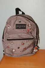 JANSPORT BACKPACK Originals Special Edition Grey Black Red - Rings/Holes Design