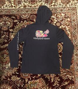 Vineyard Vines Long Sleeve Pocket Tee Hoodie Lacrosse Shirt Boys Sz XL Read Info