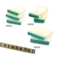 DIY Stempel Basteln Buchstaben Datum Zahlen Zeichen Buchdruck Schreibwaren Büro