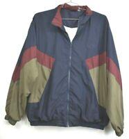 Vintage Winner Brand Mens Large Tall Multicolor Full Zip Windbreaker Jacket