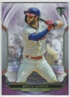 2019 Topps Triple Threads #2 Amethyst purple Bryce Harper #/299 Phillies