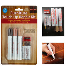 7Pc Wood Furniture Touch Up Kit Marker Pen Wax Scratch Filler Remover Repair Fix