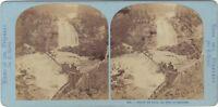 Chute Del Gave Pont Spagna Foto Lamy Stereo Vintage Albumina Ca 1870