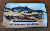 VTG Travel Souvenir 10 x 6 WHITE SANDS NATIONAL MONUMENT NM Ashtray Tray Japan