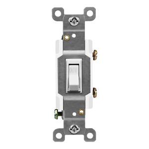 Lighted Toggle Switch Illuminated Amber Single Pole 15A 120-277V UL Listed White