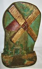 ANTIQUE 1927 A.A. RICHARDSON USA MA WINDMILL CAST IRON HOME STATUE ART DOORSTOP