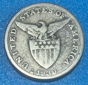 1930 Philippines (United States of America Administered) 5 Centavos Coin