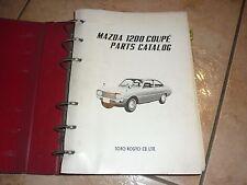 MAZDA 1200 COUPE PARTS CATALOG VOL-1 manuel atelier 1970 en Anglais