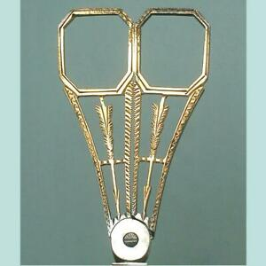 Outstanding Antique Gilded Steel Embroidery Scissors * French * Circa 1830