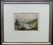"William Henry Bartlett/C Cousen ""View on the Susquehannah"" Hand Colored Print"