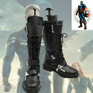 The Avengers Captain America Winter Soldier Cosplay Shoes Boots Custom