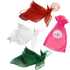 Christmas Red, White, and Green Sheer Chiffon Scarf - Set of 3 Holiday Scarves
