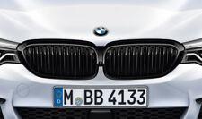 Original BMW M PERFORMANCE Ziergitter Nieren SET 5er G30 G31 schwarz black