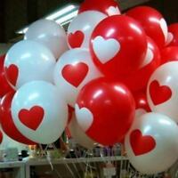 6 ballon Blanc avec coeur rouge ou rouge cœur blanc fête St valentin mariage