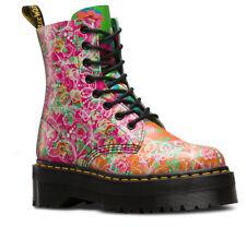 Dr. Martens Women Jadon Daze Leather Boots, MULTI DAZE BACKHAND, UK 6/EU 39/US 8