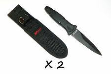 2 X 440 Stainless Steel Fixed Blade MTech Tactical Hunting Survival Dagger Knife