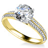 1.42 Ct Real Certified Diamond Solitaire Ring 14K Solid Yellow Gold Size N J I K