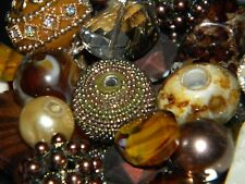NEW RANDOM Brown/ Tan's PICK 25/pc Jesse James mixed beads lot of Spacer Beads