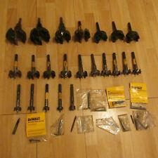 Forstner drills bits large lot of 22 + extras Dewalt and Milwalkee