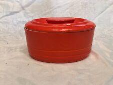 Vintage Hall China Westinghouse Refridgerator Butter Dish Midcentury Orange