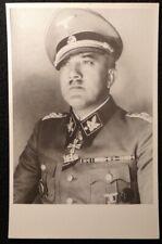 Waffen SS General KARL DEMELHUBER - World War II German autographed photograph
