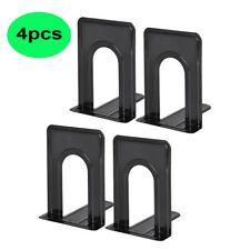 Metal Bookends Non-Slip Heavy Metal Bookshelf For Shelves 2 Pairs / 4 Pieces