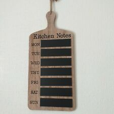 Weekdays Chalk board Wooden kitchen Note Weekly Memo Plaque Chalk Black Board