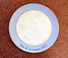 Lladro Mother's Day Plate 1972 hand made in Spain w Original Box