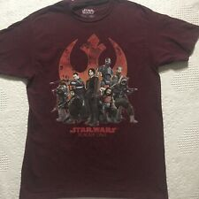 Star Wars Rogue One M tee t-shirt red 100% Cotton top