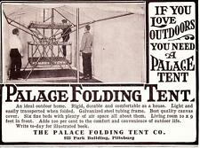 1910 Antique ad Palace Folding Tent Vintage Camping  Man Cave Art