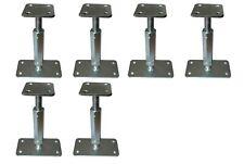 6xPfostenträger verstellbar Höhe 160-220 mm höhenverstellbar Stützenfuß Carport