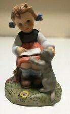 "Goebel ""Cat Tales"" figurine NIB  BH105 3.25"" girl playing with cat"