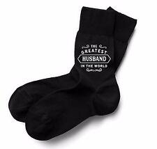 Husband Socks Birthday Gift Greatest Present Idea Boy Dude Him Men Black Sock