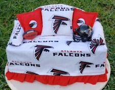 Atlanta Falcons Football Sofa Couch Tissue Box Cover w/ Helmet Pillows Cool!