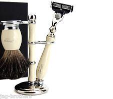 Design Classico Set da barba Badger Brush & MACH 3 RASOIO con supporto / Holder