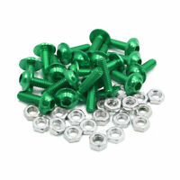20pz. 6mm dia viti a  esagonale incassata in lega di alluminio verde