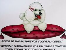 New LA Stencilworks Stencil - Fifi French Poodle Dog Wall, Mural, Fabric, Craft