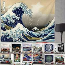 Japanese Ukiyo-e Tapestry Wall Hanging Mandala Hippie Bedspread Throw Beach Mat
