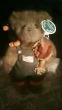 "Bearington Bears ""Bo & Crow"" 14"" Collector Bear with tags & scarecrow"