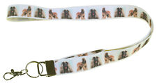 More details for afghan hound breed of dog lanyard key card holder perfect gift