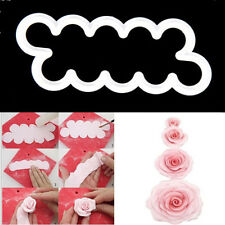 Kitchen White Romantic 3D Rose Fondant Icing Wedding Cake Toppers Mould Kit Tool