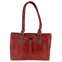 Genuine Leather Womens Handbag Brown Ladies Purse Shoulder Bag Gift for Mom