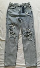 BDG Women's High Waist Tapered Leg Distressed Mom Jeans Size 30 32 New With Tags