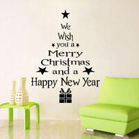 HOT Vinilo extraíble 3D pared pegatinas árbol de Navidad calcomanías de pared