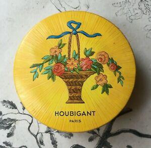 Boite Poudre Houbigant Paris Quelques Fleurs - Naturelle Ocrée - PLEINE